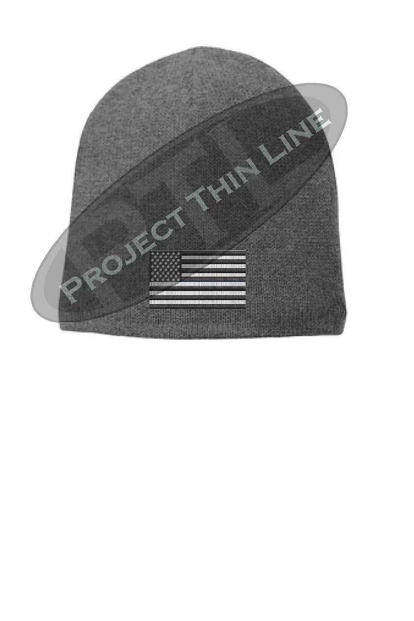 Subdued American Flag FLEECE LINED skull cap