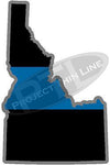 "5"" Idaho ID Thin Blue Line State Sticker Decal"