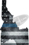 "5"" Idaho ID Tattered Thin Blue Line State Sticker Decal"
