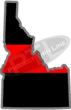 "5"" Idaho ID Thin Red Line State Sticker Decal"