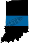 "5"" Indiana IN Thin Blue Line State Sticker Decal"