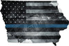 "5"" Iowa IA Tattered Thin Blue Line State Sticker Decal"