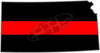 "5"" Kansas KS Thin Red Line State Sticker Decal"