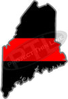 "5"" Maine ME Thin Red Line State Sticker Decal"