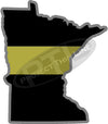 "5"" Minnesota MN Thin Gold Line State Sticker Decal"