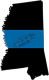 "5"" Mississippi MS Thin Blue Line State Sticker Decal"
