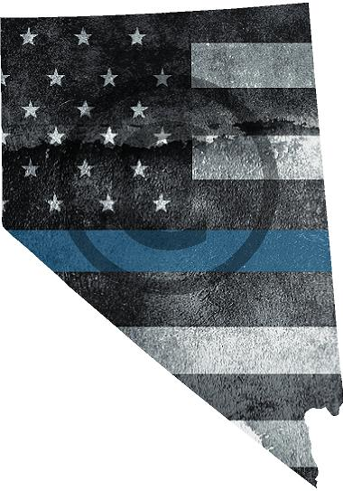 "5"" Nevada NV Tattered Thin Blue Line State Sticker Decal"