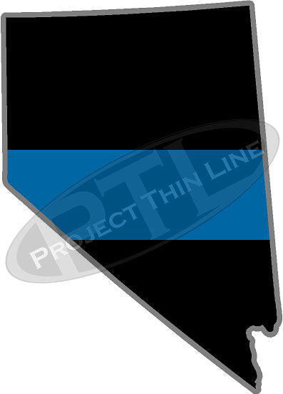 "5"" Nevada NV Thin Blue Line State Sticker Decal"