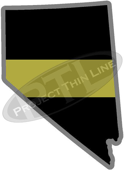 "5"" Nevada NV Thin Gold Line State Sticker Decal"