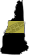 "5"" New Hampshire NH Thin Gold Line State Sticker Decal"