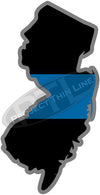 "5"" New Jersey NJ Thin Blue Line State Sticker Decal"