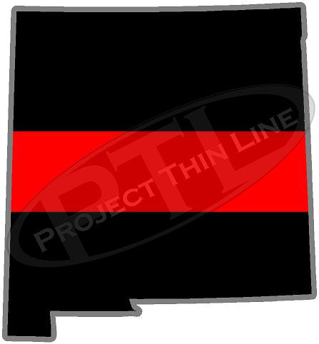 "5"" New Mexico NM Thin Red Line State Sticker Decal"