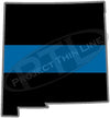 "5"" New Mexico NM Thin Blue Line State Sticker Decal"