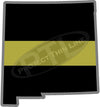"5"" New Mexico NM Thin Gold Line State Sticker Decal"