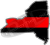 "5"" New York NY Thin Red Line State Sticker Decal"