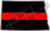 "5"" North Dakota ND Thin Red Line State Sticker Decal"