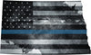 "5"" North Dakota ND Tattered Thin Blue Line State Sticker Decal"