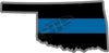 "5"" Oklahoma OK Thin Blue Line State Sticker Decal"