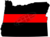 "5"" Oregon OR Thin Red Line State Sticker Decal"