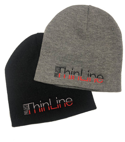 Black or Grey Project Thin Line embroidered with grey and red or black and red