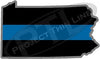 "5"" Pennsylvania PA Thin Blue Line State Sticker Decal"
