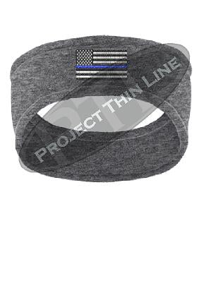Thin BLUE Line American Flag Fleece Headband