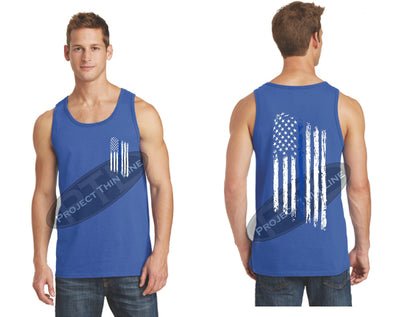 Find Your Line - Tattered American Flag Tank Top