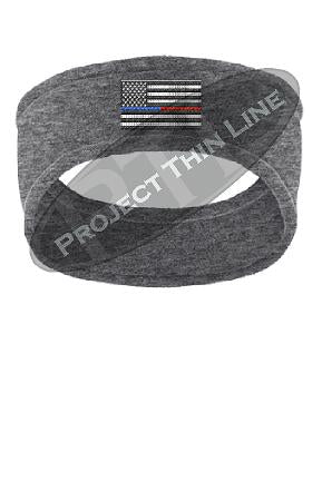 Thin BLUE / RED Line American Flag Fleece Headband