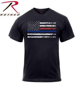 Rothco Thin Blue / Red Line Short Sleeve T-shirt