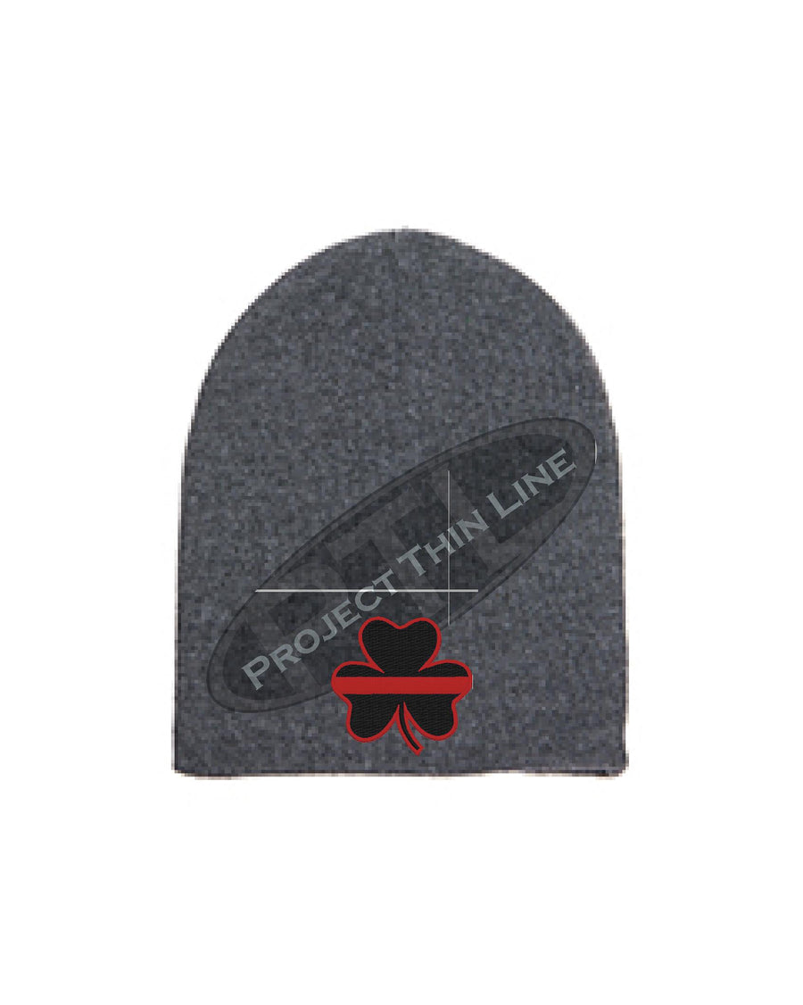 Thin RED Line Shamrock Skull Cap