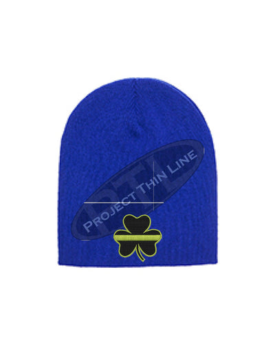 Thin YELLOW Line Shamrock Skull Cap