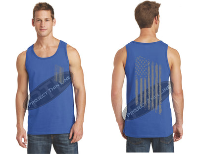 Royal TACTICAL Tattered American FLAG Tank Top