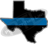 "5"" Texas TX Thin Blue Line State Sticker Decal"