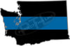 "5"" Washington WA Thin Blue Line State Sticker Decal"