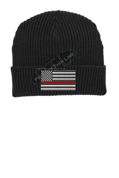 Thin RED Line American Flag Winter Watch Hat