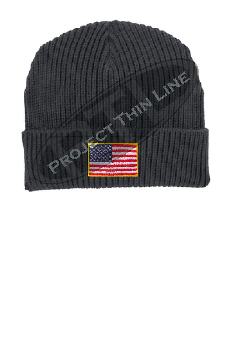 American Flag Winter Watch Hat