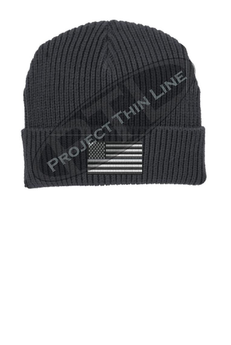 Tactical Subdued American Flag Winter Watch Hat
