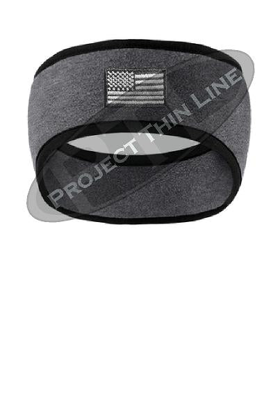 Tactical Subdued American Flag 2 Color Fleece Headband