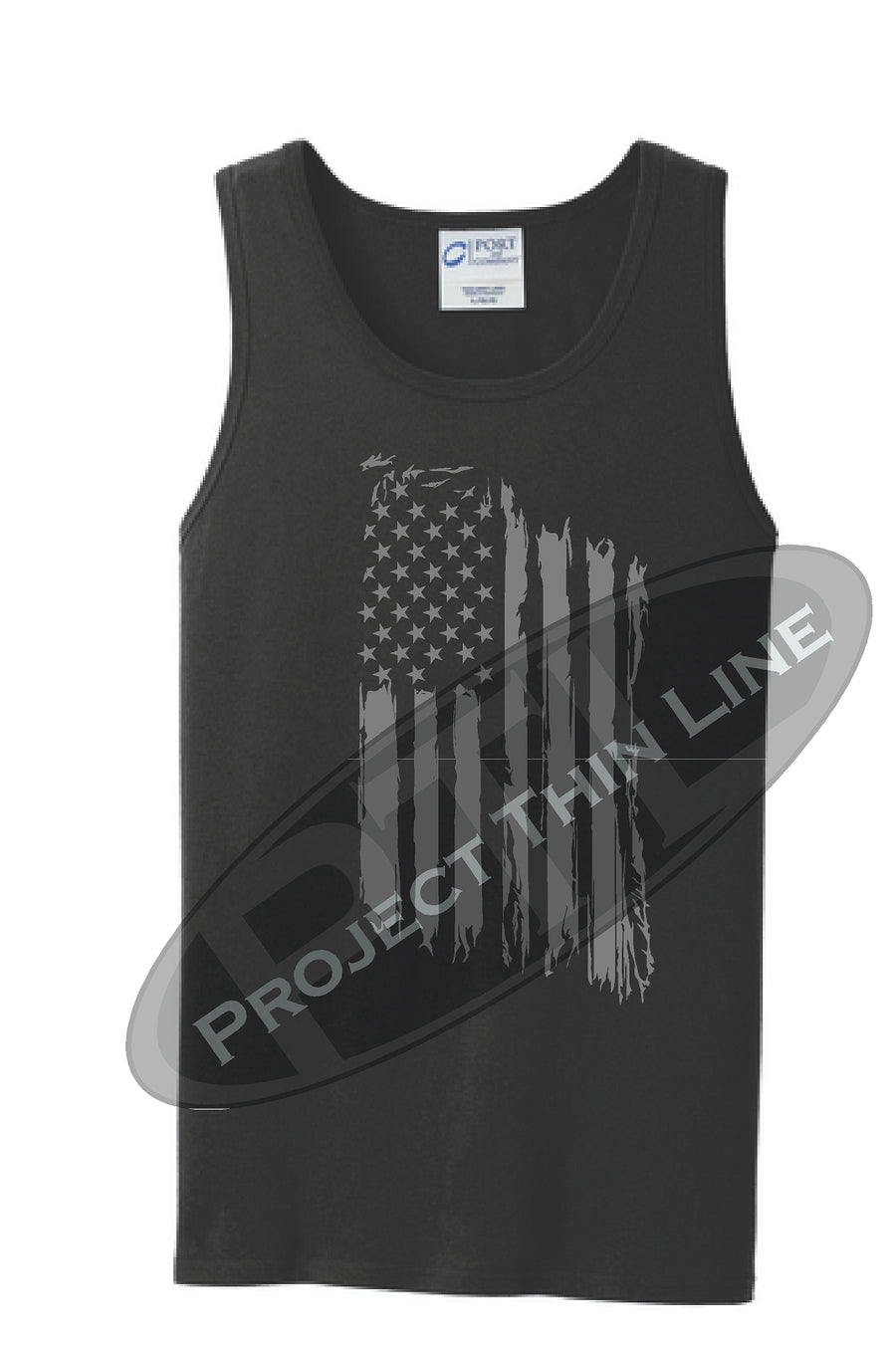 Tattered Tactical - Subdued American Flag Tank Top - FRONT