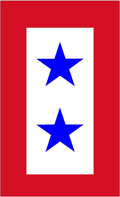 "5""-  2 Service Star Flag Sticker - Green line"
