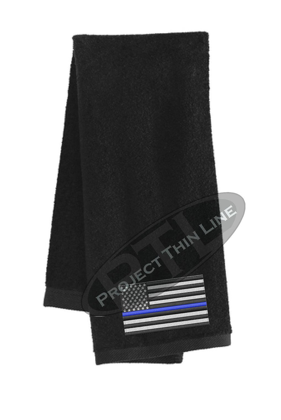 Thin BLUE Line Flag Workout Gym Towel