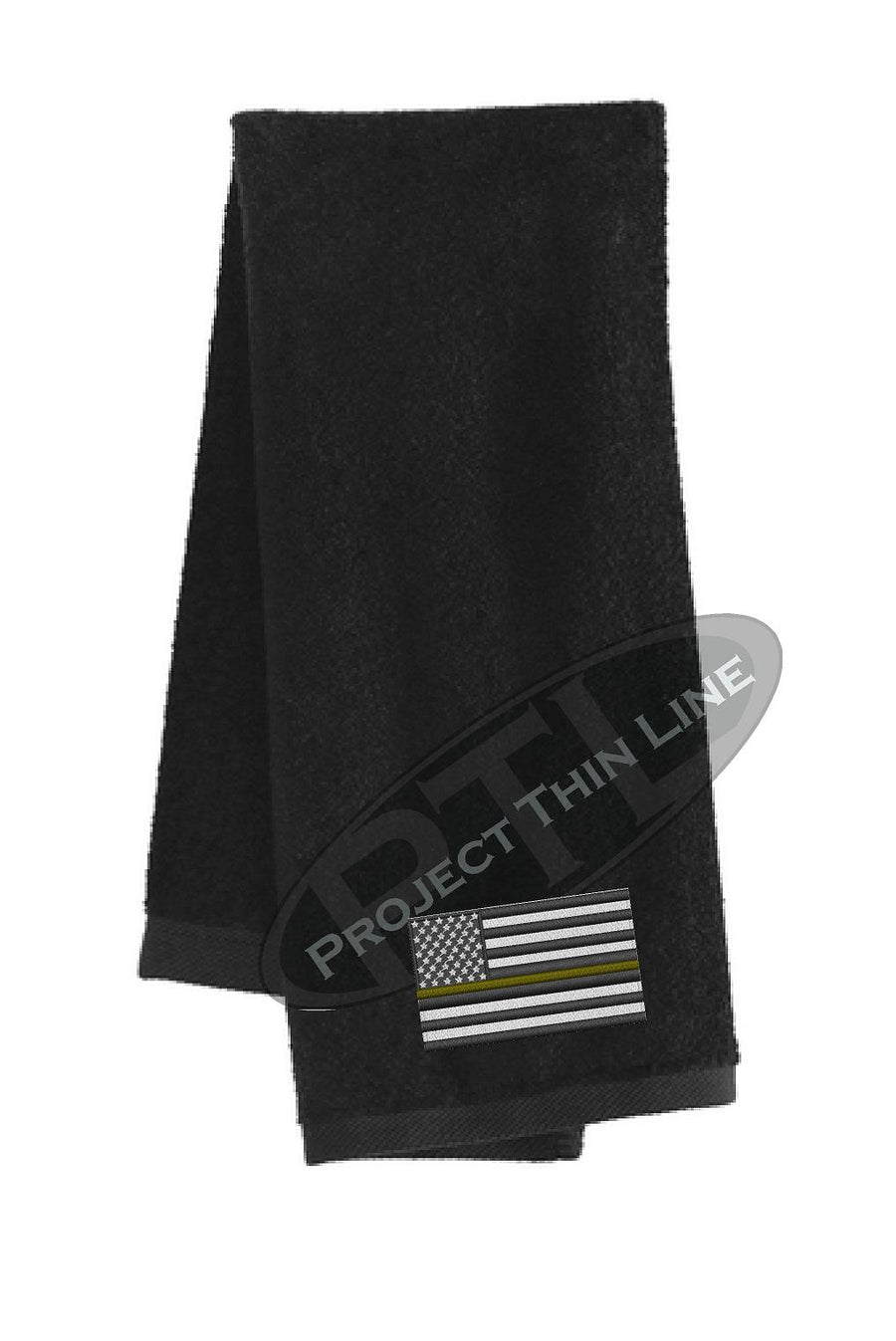 Thin GOLD Line Flag Workout Gym Towel