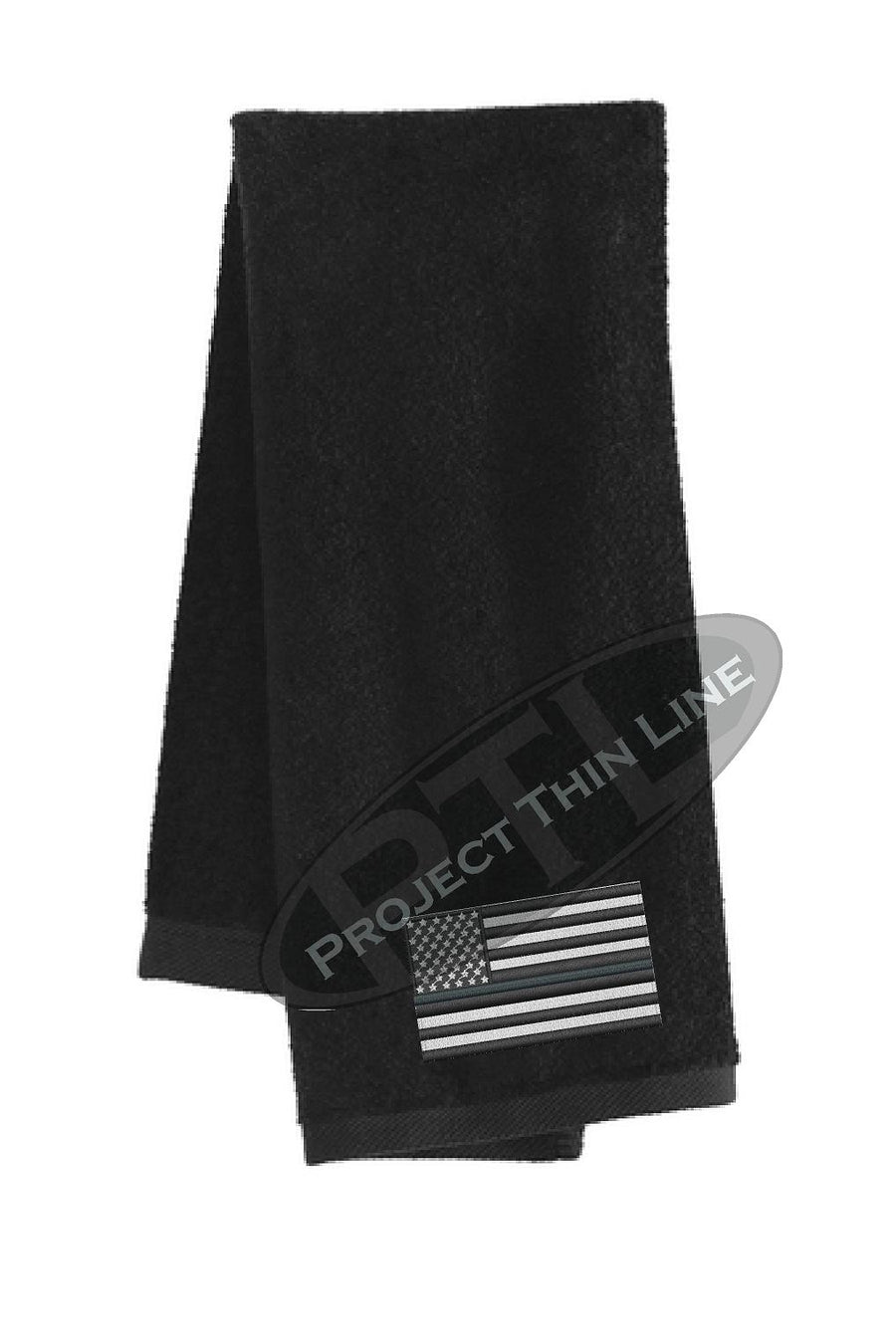 Thin SILVER Line Flag Workout Gym Towel