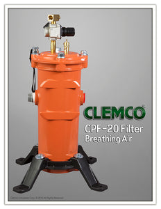 CPF-20 Breathing Air Filter 1-2 Operators Complete with Regulator and Base
