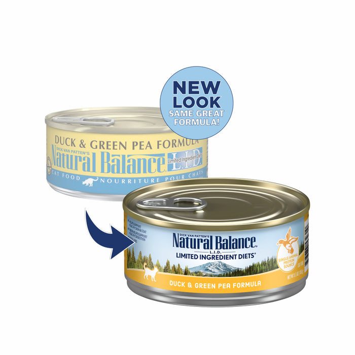 Natural Balance L.I.D. Limited Ingredient Diets Duck & Green Pea Formula Canned Cat Food