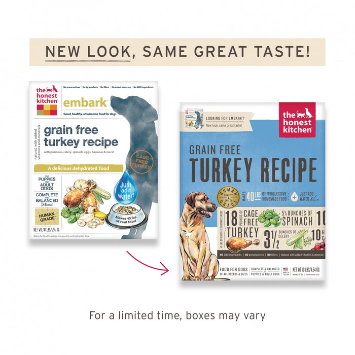 The Honest Kitchen Grain Free Turkey Recipe Dehydrated Dog Food Naturally Unleashed