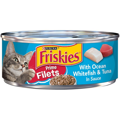 Friskies Prime Fillets with Ocean Whitefish and Tuna in Sauce Canned Cat Food