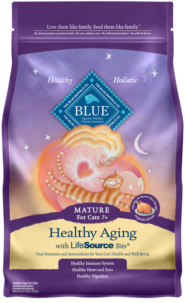 Blue Buffalo Healthy Aging Natural Chicken & Brown Rice Mature Dry Cat Food