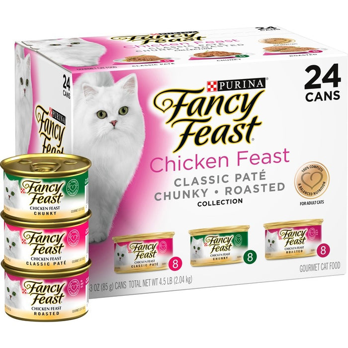 Fancy Feast Gourmet Chicken Feast Variety Pack Canned Cat Food
