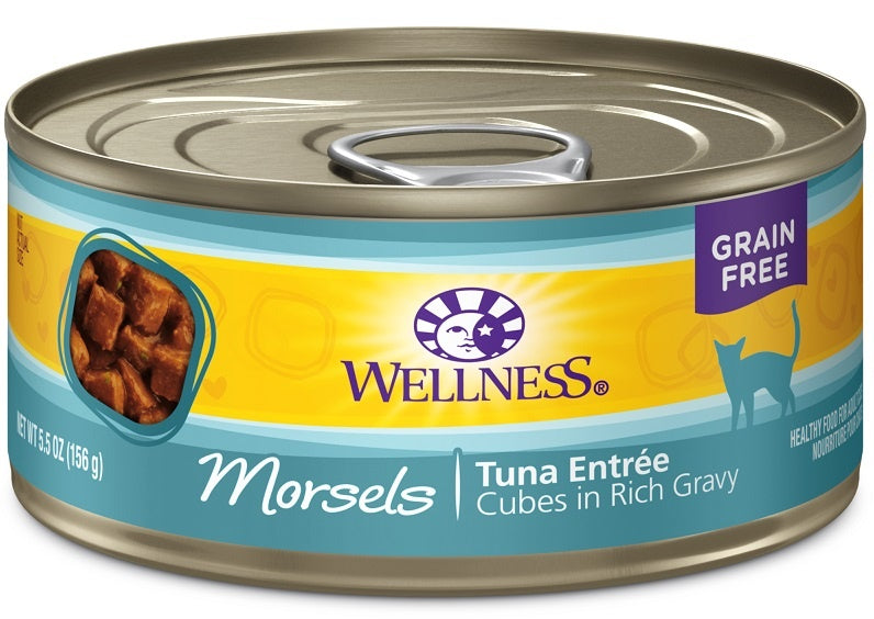Wellness Grain Free Natural Tuna Morsels Recipe Wet Canned Cat Food